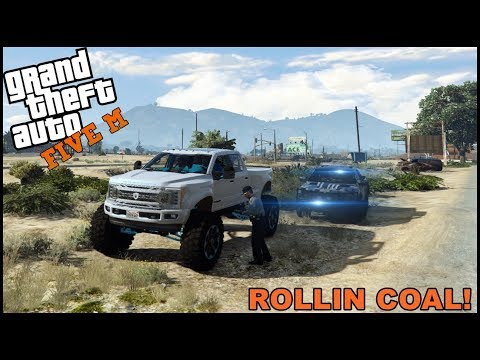 GTA 5 ROLEPLAY - BUILT POWERSTROKE ROLLIN COAL ON COP! - EP. 547 - CIV thumbnail