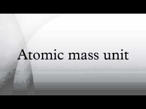 Atomic mass unit