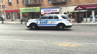 2 NYPD SRG 2 UNITS, (STRATEGIC RESPONSE GROUP), PATROLLING ON 1ST AVENUE ON EAST SIDE OF MANHATTAN.
