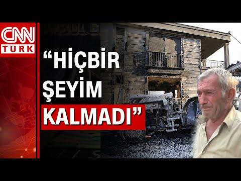 Manavgat'ta yangında evi yanan köylü yaşadıklarını gözyaşları içinde anlattı…