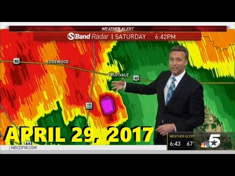 April 29, 2017 Tornado Warning: KXAS-TV (Confirmed EF-4 Tornado)
