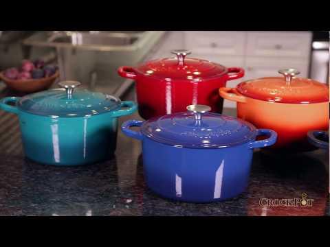 Crock Pot Artisan Enamel Cast Iron Dutch Oven - Gibson Overseas Inc