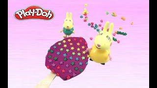 ไอศครีมแป้งโดว์และตัวเลข | ปั้นแป้งโดว์ ไอศครีม |CREATE Ice-cream playdoh Fun with peppa pig ToyS