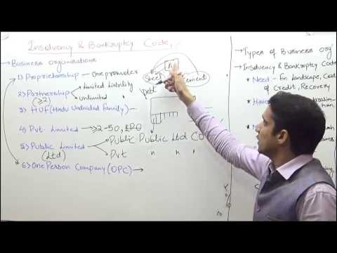 Insolvency and Bankruptcy Code| Bill , 2016/2017 Explained by M K Yadav