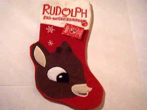 Rudolph the Red Nosed Reindeer Musical Stocking