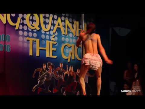 Hotstep 2016 - Mr. Kim Long Pole Dance Múa Cột Sway - Giáo viên Saigondance