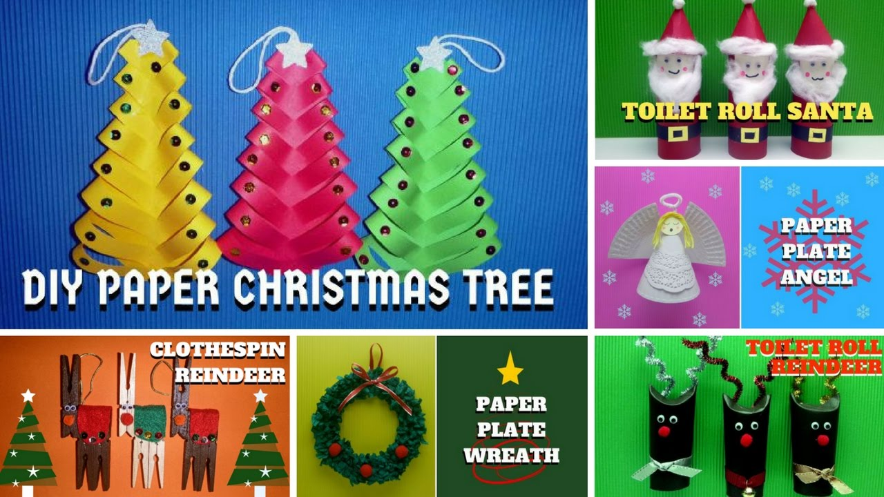 Easy Christmas Crafts For Kids Christmas Craft Ideas Youtube