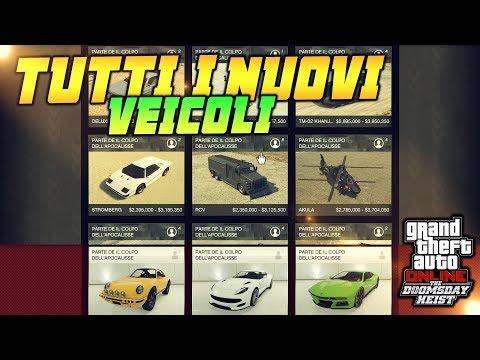 TUTTI I NUOVI VEICOLI/VELIVOLI MILITARI E NON! AUTO SUBAQUEA/AEREA  GTA 5 ITA THE DOOMSDAY HEIST DLC