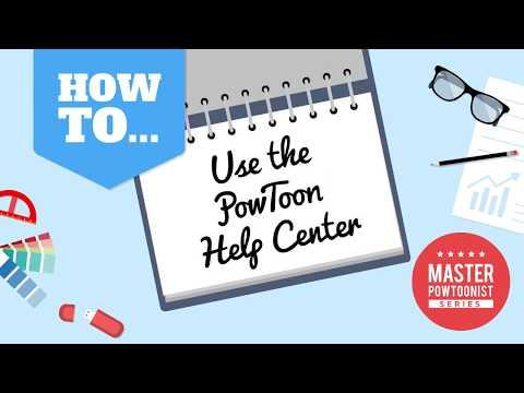 How to Use Powtoon's Super Easy Help Center - Screencast Tutorial