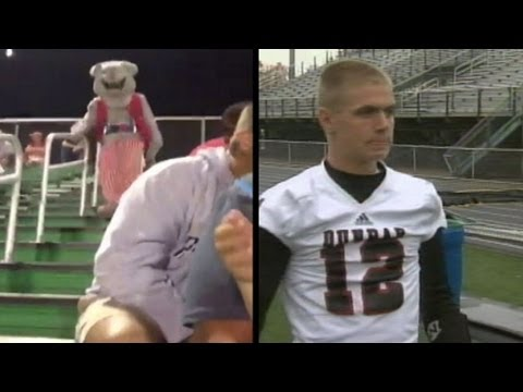 High School Football Mascot Becomes Team\'s Quarterback