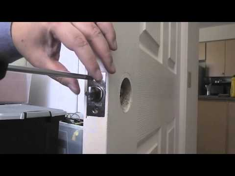 Unboxing & installing a keyed entry door knob (ASMR)