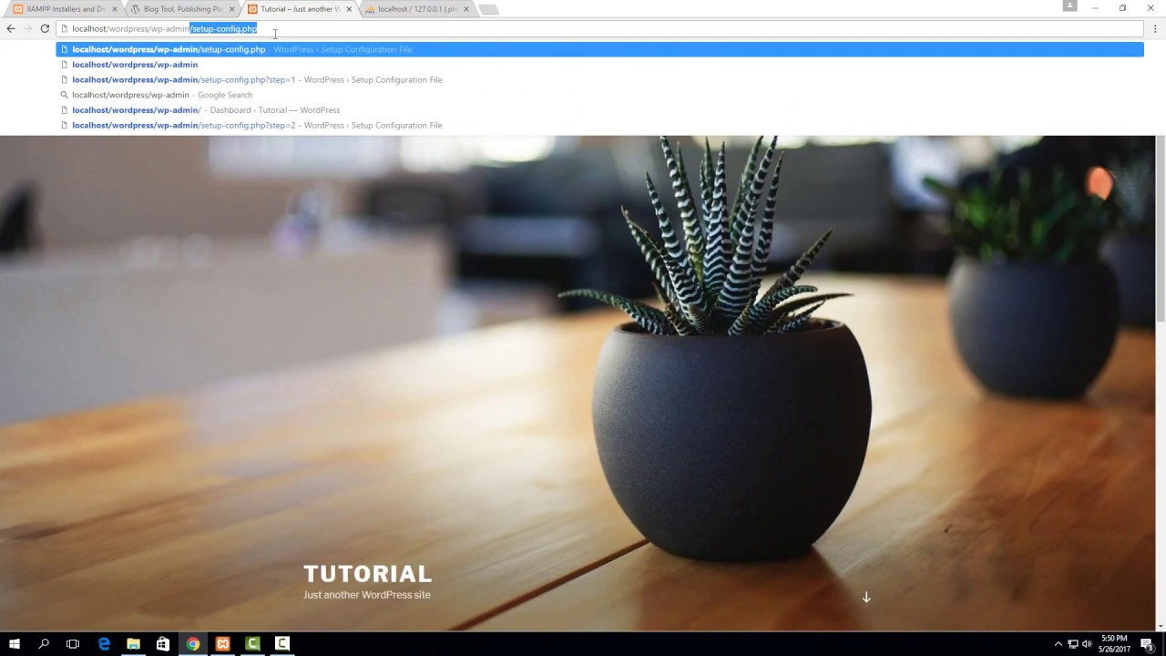 How to set up a Wordpress website with XAMPP on Windows 10