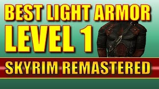 Skyrim Remastered - BEST LIGHT ARMOR for Stealth at LEVEL 1! (Special Edition)