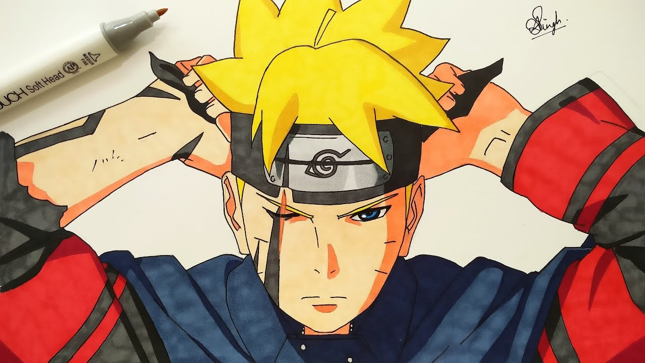 Drawing Boruto (Requested) - YouTube