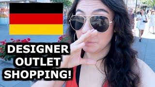 CRAZY DESIGNER SHOPPING IN METZINGEN - TRAVEL VLOG 390 GERMANY | ENTERPRISEME TV