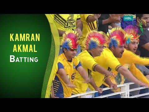 PSL 2017 Match 16: Peshawar Zalmi vs Lahore Qalandars - Kamran Akmal Batting