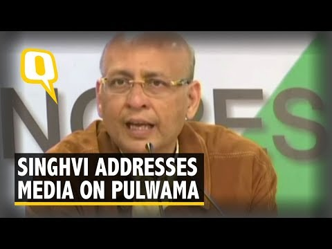 Congress' Abhishek Manu Singhvi Addresses Media on Pulwama Attack