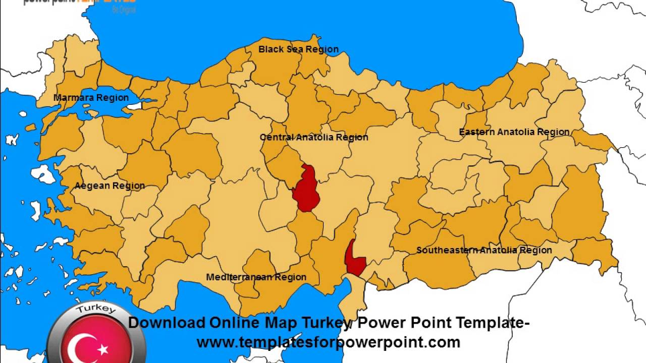 Editable Map Turkey Powerpoint Template Youtube