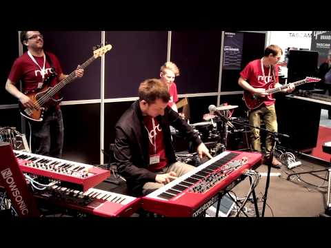Nord at Musikmesse 2015 - Matt Cossey Band