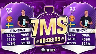 92 POTM IBRAHIMOVIC 7 MINUTE SQUAD BUILDER!! DUAL YOUTUBER - FIFA 17 ULTIMATE TEAM