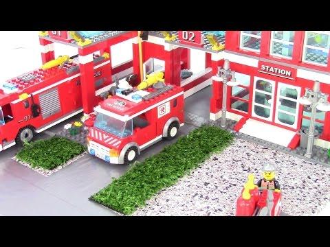 Мистер Макс Пожарная станция Лего Дупло 10593 играем в конструктор с машинками Lego Duplo set 10593 Fire station  и другое видео