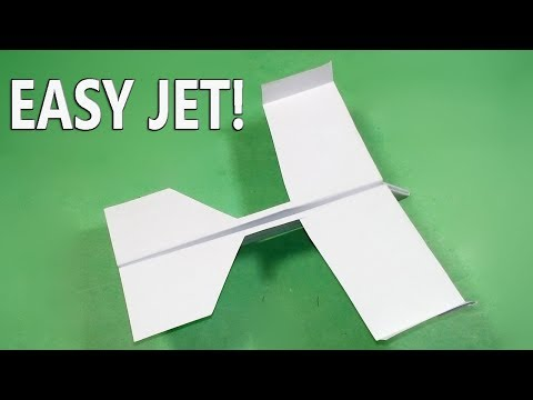 Easy Paper Fighter Jet | How to make an Easy Paper Fighter Jet | BEST ORIGAMI PAPER JET