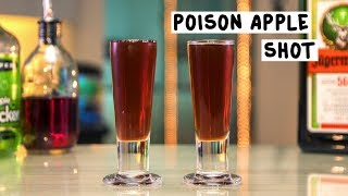 Poison Apple Shot - Tipsy Bartender