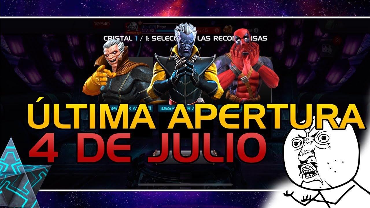 ÚLTIMA APERTURA DEL 4 DE JULIO + CRISTALES DE REY | Marvel: Batalla de superhéroes