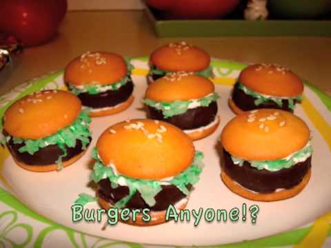 Mini Hamburger Dessert - Perfect for Summer Picnics! - YouTube