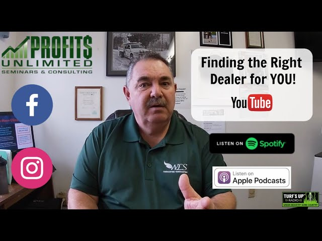 Finding the Right Equipment Dealer For You! And it's NOT Based on the Cheapest Lawn Mower!