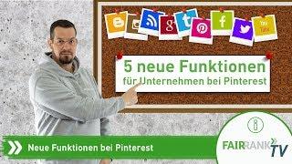 Neue Funktionen für Unternehmen bei Pinterest | Fairrank TV