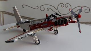 Самодельный  самолёт из ЛЕГО техника/Hand made plane Lego Technic.(Самодельный самолёт на основе Lego Technic 42040. Захотелось собрать моноплан с нижним расположением крыла по теме..., 2015-09-15T10:07:53.000Z)