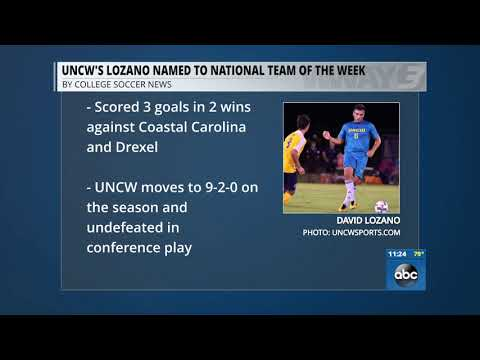 UNCW's David Lozano named to College Soccer News Team of the Week