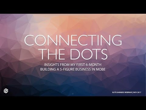 Elite Earners: How To Connect The Dots in Affiliate Marketing Business