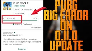 0.11.0 Pubg Update 100 Million People Download at a time | Google Play Store Completely Crashed