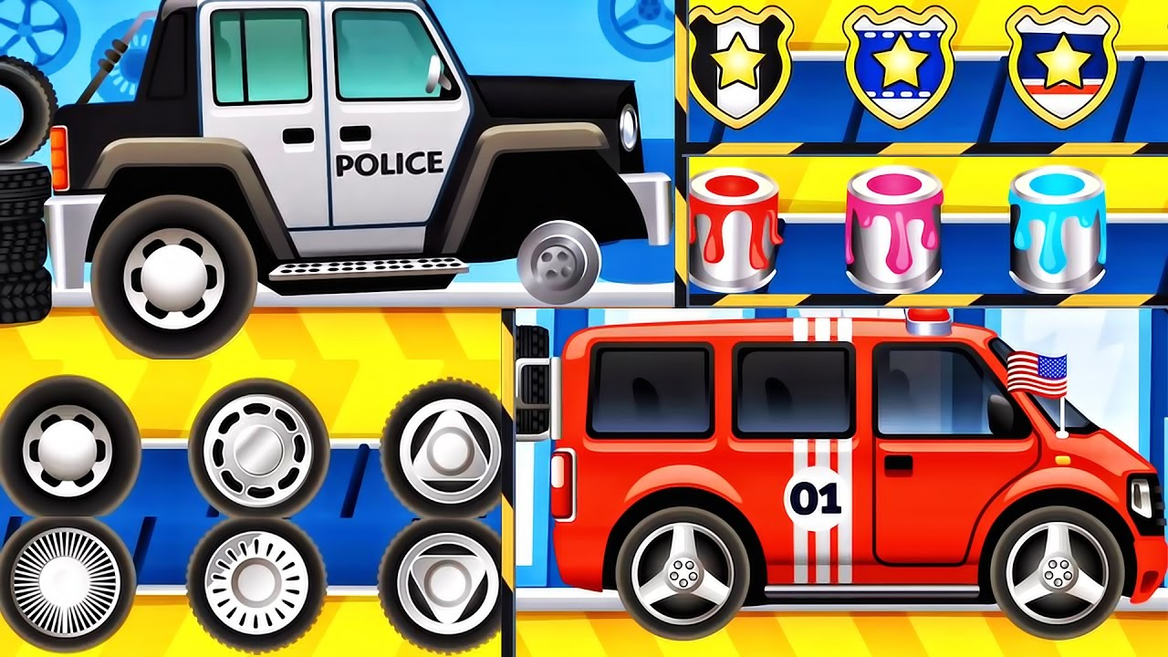 Car Wash - Builds Fire Truck