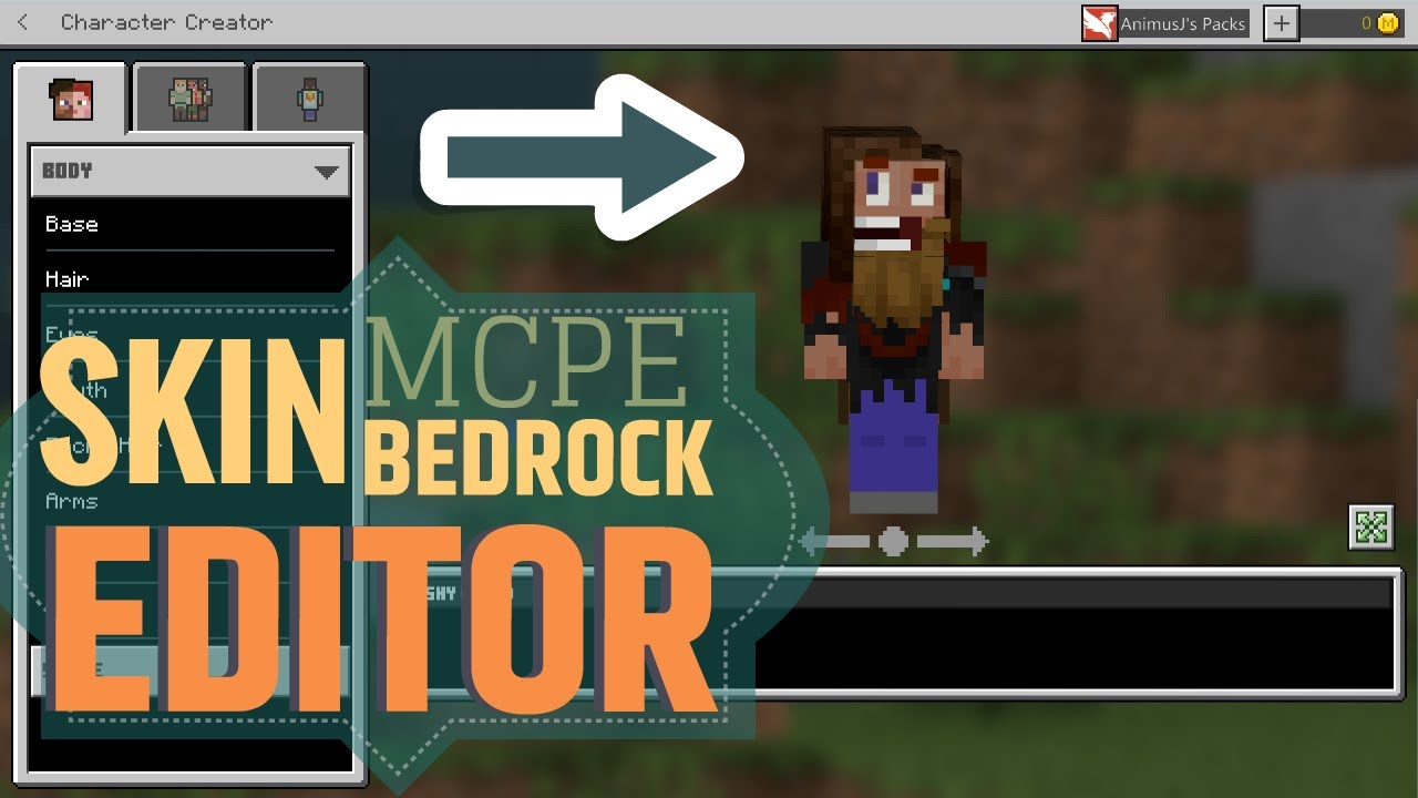 Minecraft Bedrock 1 14 Skin Creator Youtube