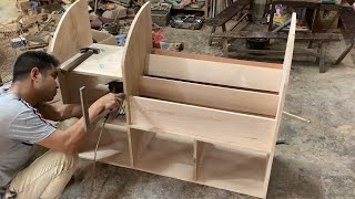 Woodworking Project - How To Build a Wooden Bookcase Easy