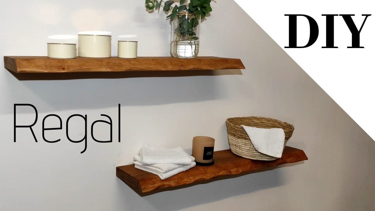 Schwebendes Regal Selber Bauen Wandregal Floating Shelves Holzregal Regal Selber Bauen Shelves Diy Youtube