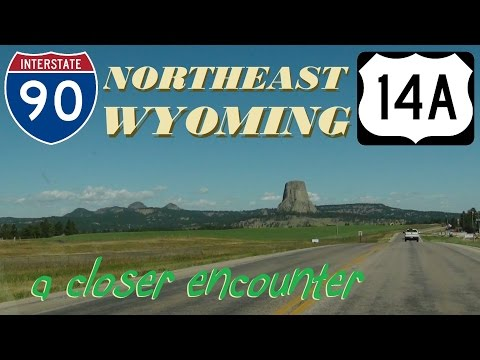 Time Lapse: Northeast Wyoming, I-90 towards Devils Tower, Lovell, and Yellowstone National Park