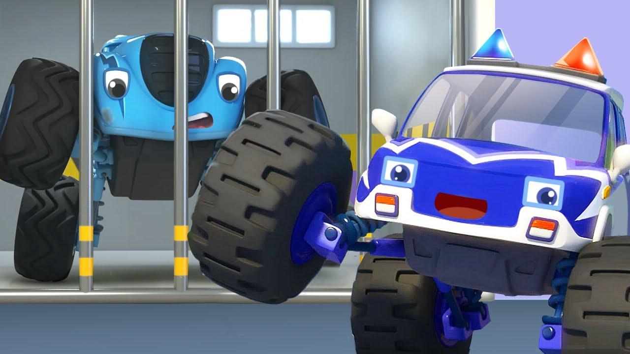 سيارة الشرطة الضخمة | اغاني سيارات | اغاني الاطفال | بيبي باص | BabyBus Arabic