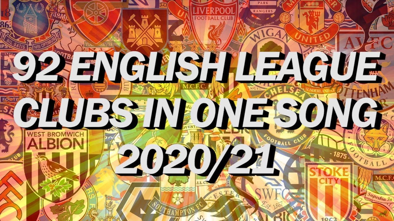 Download 🎵92 ENGLISH LEAGUE CLUBS IN ONE SONG🎵 **2020/21 VERSION**   With Lyrics [Jim Daly]