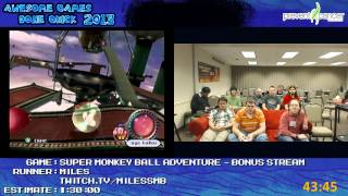 Awesome Games Done Quick 2013 Bonus Stream Part 8 - Super Monkey Ball Adventure