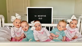 Our Quints Are 10 Months Old! - Five Babies, Five Personalties
