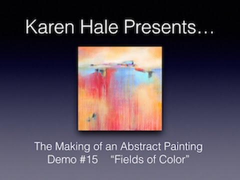 Demo #15 - Watch An Acrylic Abstract Painting Demo -Contemporary Painting Techniques