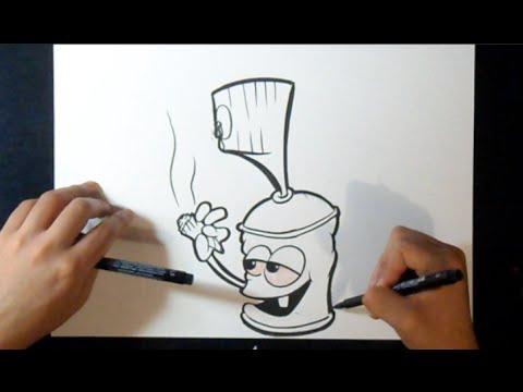 Graffiti Sketch smoking spraycan  YouTube