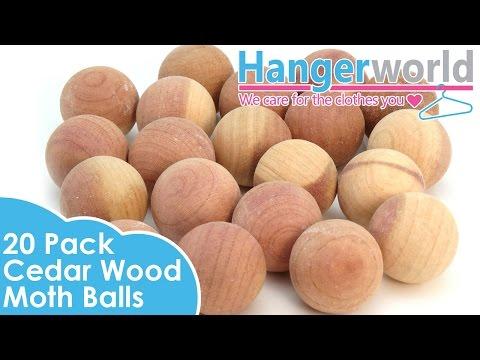 HANGERWORLD - Pack Of 20 Cedar Wood Moth Balls