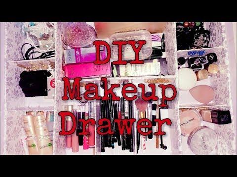 DIY Makeup Drawers Organizers!