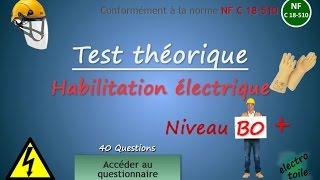Quiz Habilitation B0 (40 questions)