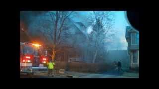 Newark Ohio Fire Department working house fire 430 Hudson 3-8-14 Fire Command